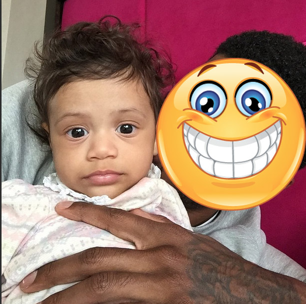 Paul George and daughter Olivia